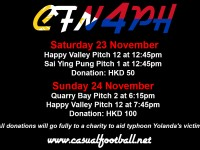 Nov 23-24: Play football for the victims of typhoon Yolanda!