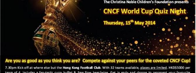 Thursday May 15: Charity Quiz Night at Hong Kong Football Club
