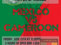 Friday Jun 13, 11:30pm: World Cup Event HKD 350 Open bar